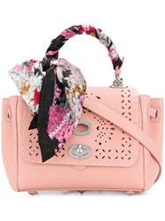 Ermanno Scervino Scarf Handle Tote Pink And Purple
