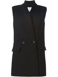 Iro Sleeveless Flap Pocket Blazer Black