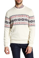 Barque Long Sleeve Wool Knit Sweater White