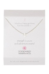 Dogeared Sterling Silver Strength Is Yours Anchor Necklace Metallic