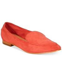 Enzo Angiolini Enzo Elerflower Flats Women's Shoes Red Suede
