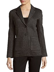 Atm Anthony Thomas Melillo Textured Knitted Long Sleeve Jacket Charcoal