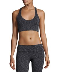 Onzie Wrap Melange Low Impact Sports Bra Gray