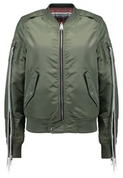 Replay Bomber Jacket Olive