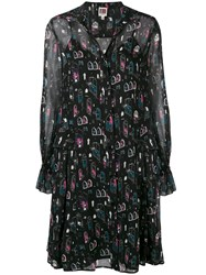 I'm Isola Marras Printed Midi Dress Black