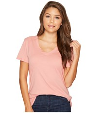 Hurley Staple Perfect V Red Stardust Women's Short Sleeve Pullover Pink
