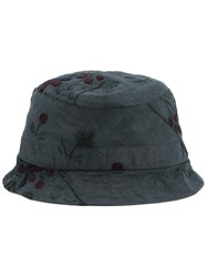 By Walid Embroidered Hat Grey