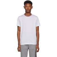 Moncler White Maglia Contrast Collar T Shirt