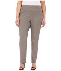 Nic Zoe Plus Size Wonder Stretch Pant Mushroom Women's Casual Pants Gray