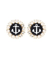 Dolce And Gabbana Crystal Clip On Earrings Multicoloured