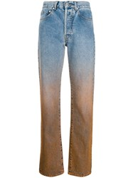 Off White Degrade Straight Leg Jeans Blue