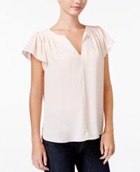 Maison Jules Flutter Sleeve Top Only At Macy's Pearl Blush