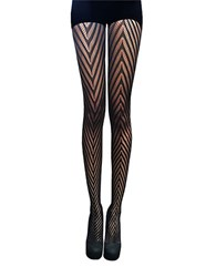 Zac Posen Chevron Knit Tights Black