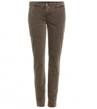 7 For All Mankind Roxanne Chinos Green