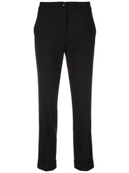 Etro Cropped Slim Fit Trousers Black