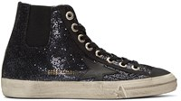 Golden Goose Blue V Star 1 High Top Sneakers