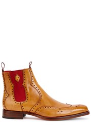 Jeffery West Novikov Brown Leather Chelsea Boots Tan