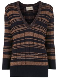Andrea Bogosian Striped Knitted Sweater Blue