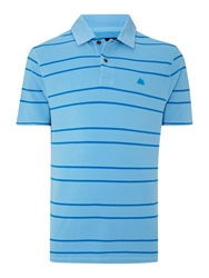 Army And Navy Ernest Striped Polo Blue
