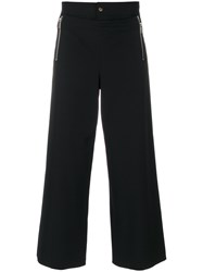 Jean Paul Gaultier Vintage High Rise Cropped Trousers Black