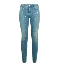 Stella Mccartney Gold Polka Dot Skinny Jeans Female
