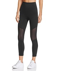 Hue Mesh Knee Active Shaping Skim Leggings Black