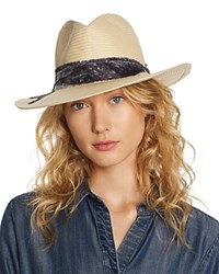 Ale By Alessandra Luca Straw Hat Natural Dark Gray