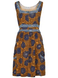 Fat Face Angie African Floral Print Dress Honey