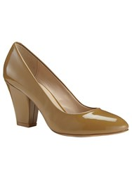 Phase Eight Amari Patent Leather Court Shoes Camel