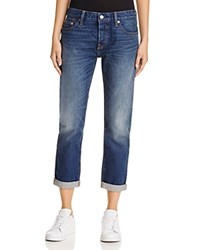 Levi's 501 Ct Boyfriend Jeans In Roasted Indigo
