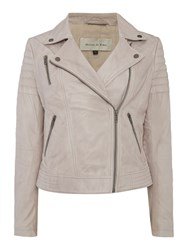Maison De Nimes Washed Leather Jacket Mink