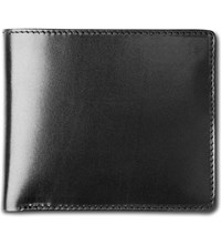 Launer Bifold Leather Wallet Black Red