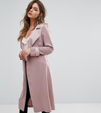 Miss Selfridge Smart Duster Coat Pink