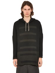 Rick Owens Oversized Hooded Wool Blend Sweater