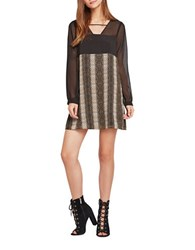 Bcbgeneration Long Sleeve Snake Printed Dress