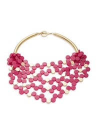 Trina Turk Beaded Statement Collar Necklace Pink