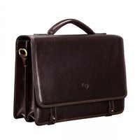 Maxwell Scott Bags Brown Leather Satchel Briefcase