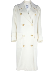 Celine Vintage Boxy Long Overcoat Nude And Neutrals