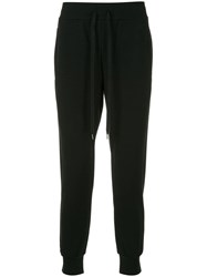 Attachment Drawstring Waist Track Pants Black