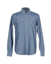Department 5 Denim Denim Shirts Men Blue
