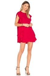 Red Valentino Ruffle Shift Dress Red