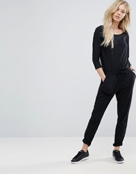 Jdy J.D.Y Relaxed 3 4 Sleeve Jumpsuit Black