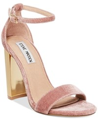 Steve Madden Women's Carrson Ankle Strap Dress Sandals Women's Shoes Pink
