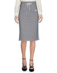 Stussy Knee Length Skirts Grey
