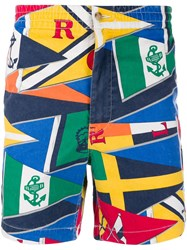 Polo Ralph Lauren Flag Print Shorts Blue