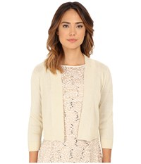Rsvp Bre Shrug With Lurex Ivory Gold Women's Sweater