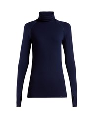 Falke Thermal Long Sleeve Performance T Shirt Dark Navy