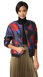 Endless Rose Bomber Jacket Dark Navy Scarlet