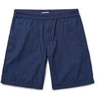 Folk The Assembly Garment Dyed Cotton Ripstop Shorts Indigo