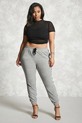 Forever 21 Plus Size Marled Sweatpants Heather Grey